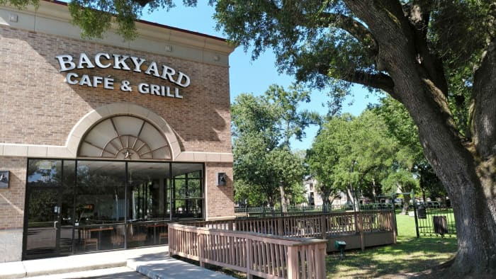 Backyard Cafe & Grill next to the Carolyn H Wolff Park