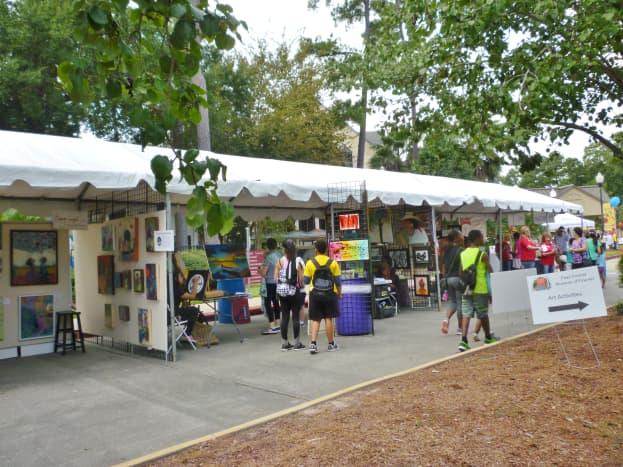 Creekfest art on display for sale