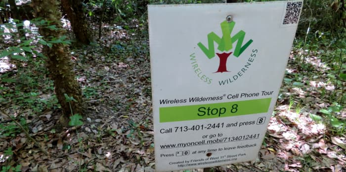 Wireless Wilderness Tour station in the West 11th Street Park