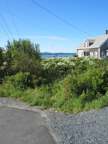 View of Western Bay and Mount Desert Island near Trenton Bridge Lobster Pound