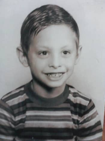 My brother Jim when he was little. His school pic.