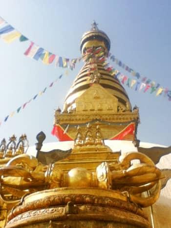 Vajra,the thunderbolt in front of Swayambhunath