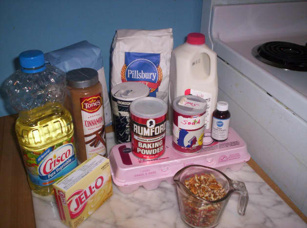 Ingredients you need to make Amish Friendship Bread.