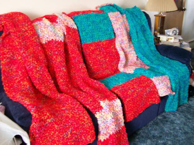 Pretty colors of Bright & Lofty yarns.
