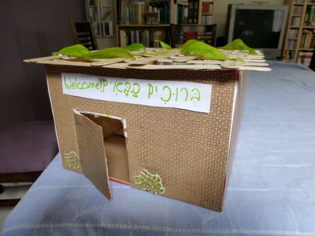 The finished sukkah
