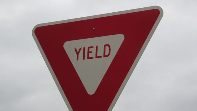 We need to slow down and yield.