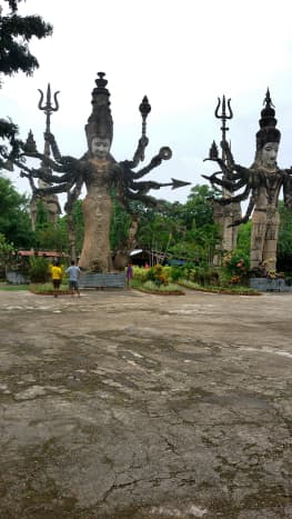 Buddhist and Hindu sculptures at Sala KeoKu