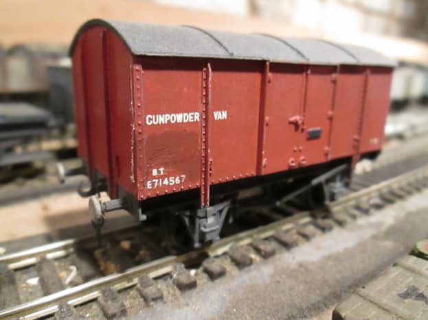 Ex-LNER Gunpowder Van - for mining and quarrying. Up to the early 1960s mining and quarrying was widespread in England, as in the former LNER area between central/eastern England and the Fifeshire coalfield in central Scotland
