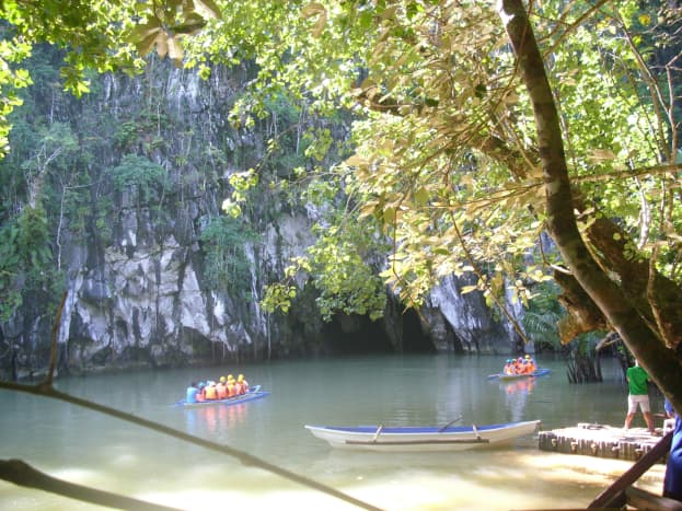 On  the way to the Underground River Cave.