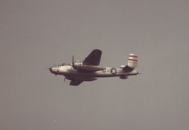 A B-25 over Andrews AFB, MD.