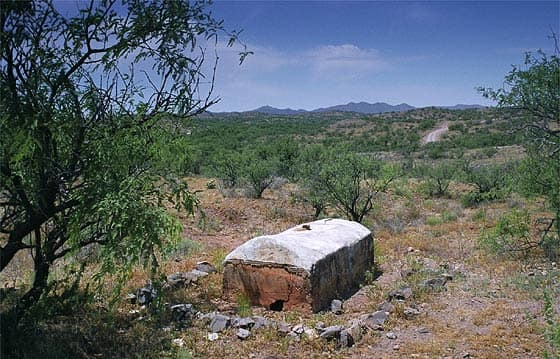 John Poston's grave (monument) at Cerro Colorado, Arizona. 2008