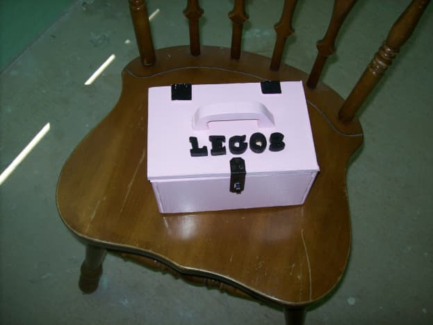 A simple wooden box for holding legos makes a special gift
