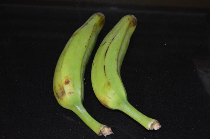 Step one: Wash bananas