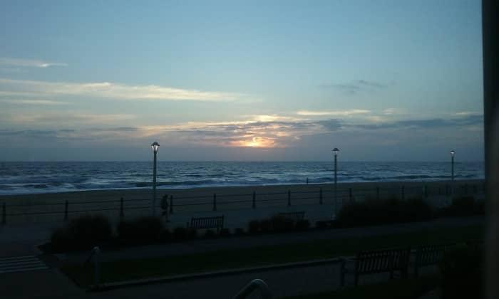 Sunrise at Virginia Beach, November 2017.