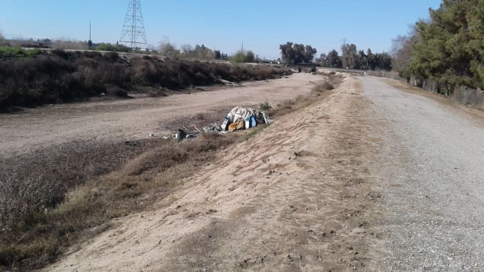 Some dwellers pursue the option of a dry riverbed
