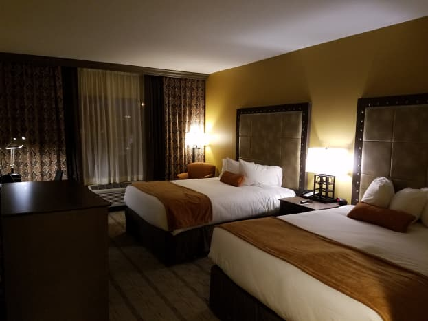 Grand Canyon Railway Hotel updated room, two queen beds.
