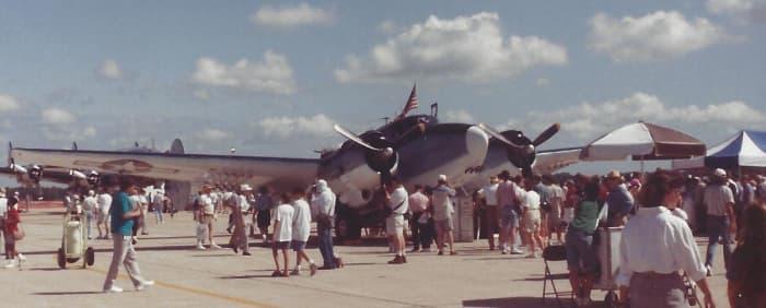 A Lockheed Hudson, Freedom Flight America, Andrews AFB, August 95.