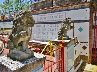 Stone Lions stand guard