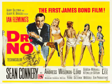 Dr. No theatrical poster.