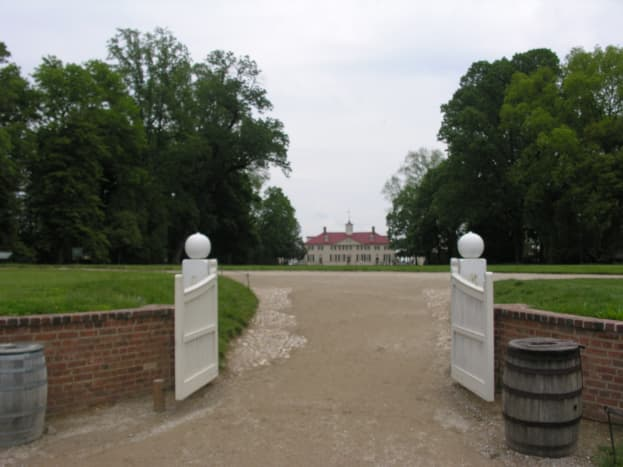 The entranceway leading to the Mansion. August 2013.