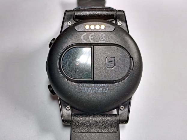 Back view of smartwatch