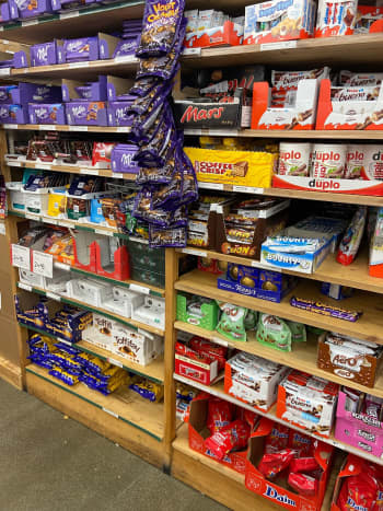 A treat for chocolate lovers, assortment chocolate from the US, Italy, the UK, Germany, and more.