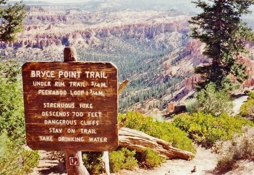 A Hiking Trail in Bryce Canyon National Park