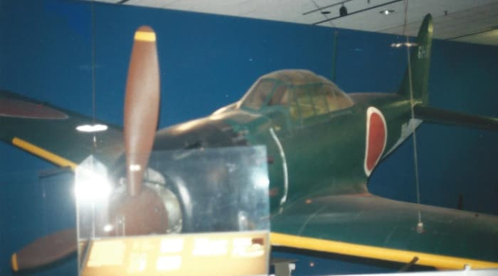 A Mitsubishi A6M Zero-Sen at the National Air & Space Museum, Washington, DC.