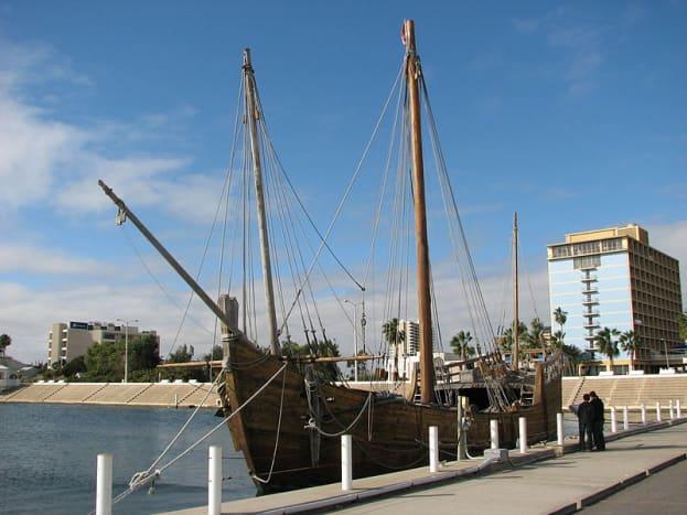 Replica of La Nina in Corpus Christi marina