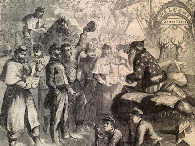 Thomas Nast's first depiction of Santa Claus was published In Harper's Weekly in 1863.
