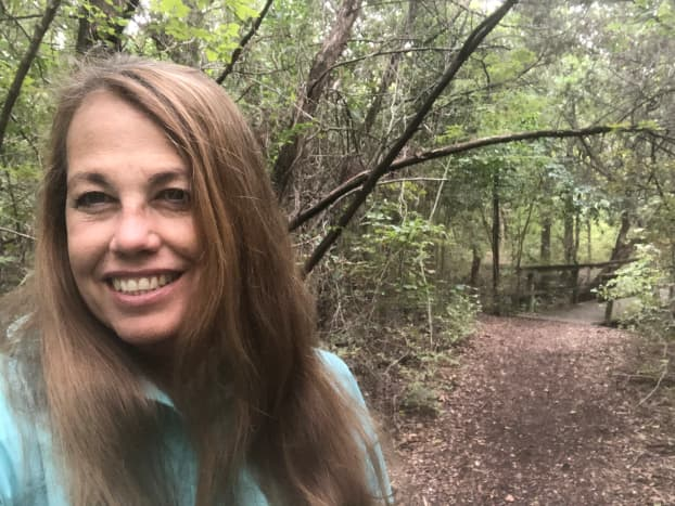 2021, I hike almost every day in this wooded trail near my house to keep my metabolism up and my weight down.
