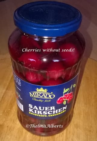 Seedless cherries for making a cherry  filling.