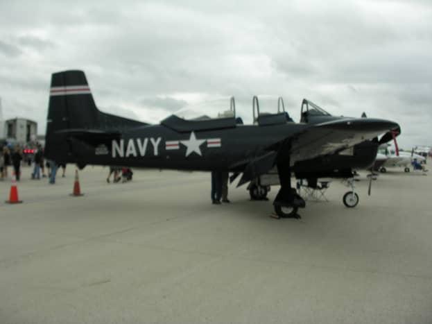A T-28 at Dulles IAP, Virginia, September 2019.
