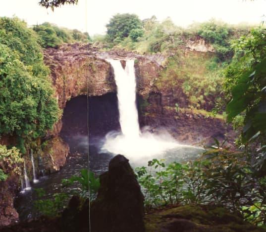 Rainbow Falls on Big Island of Hawaii