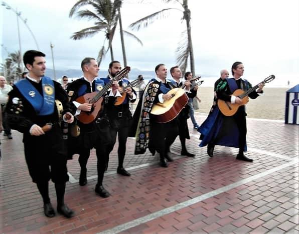 Musicians in traditional costume, Playa de las Canteras.
