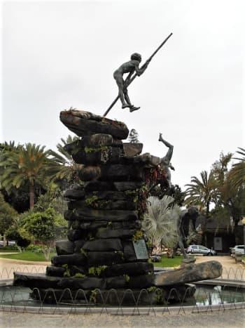 The Guanche sculpture, Parque Doramas, Las Palmas.