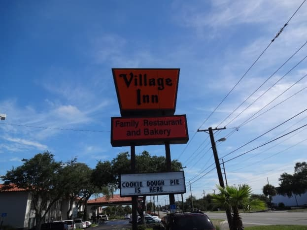 Village Inn where we ate frequently was just a few blocks from her house.