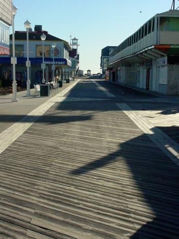 Empty Winter Boardwalk