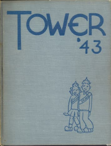 Front cover of Tower '43 High School Annual