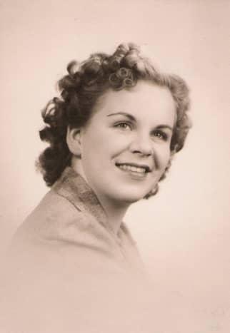 My mother's high school photo in 1943. Carol Trenkamp