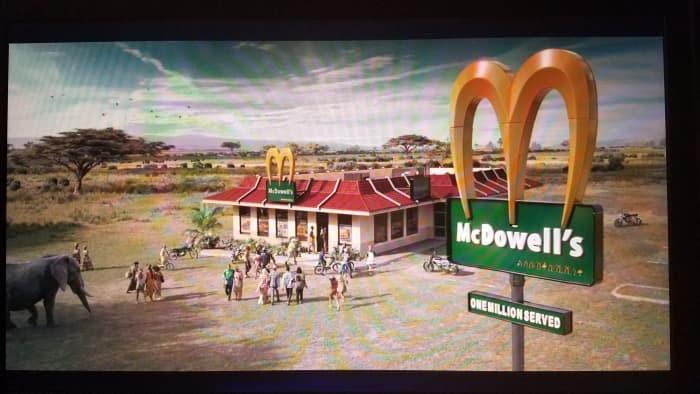 It was legitimately fun to see a McDowell's in Zamunda.