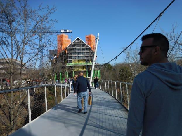 Liberty Bridge in Greenville, SC.