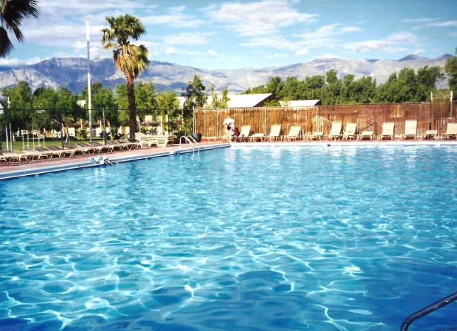 Great spring-fed swimming pool at Furnace Creek Ranch