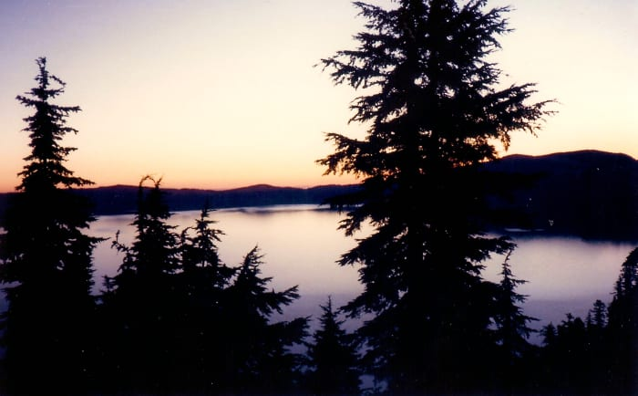 Sunrise from our room at the Crater Lake Lodge
