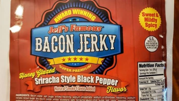 Sriracha Black Pepper Bacon Jerky