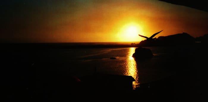 Beautiful sunset in Smith River, California
