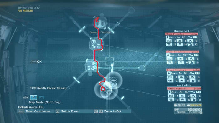 This is a rough outline showing you the most safe and direct path to take. Every FOB invasion is similar in execution until the final platform.