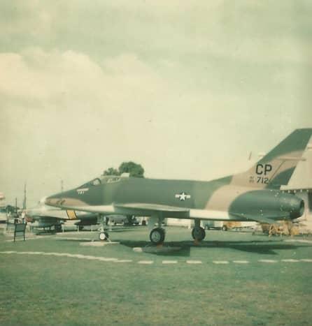 "F-100 ""Gayle Ann"" at Lackland AFB, Texas, 1977"
