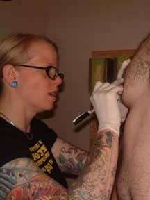 Marking where to pierce