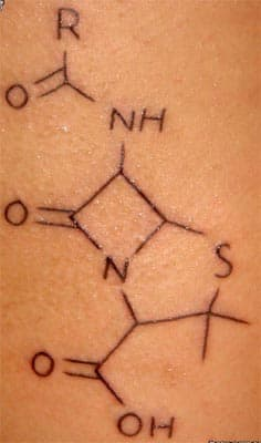 Chemical Structure of Penicillin (by Jeff, Adrenaline, Montreal, Qc)